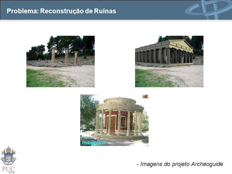 Abordagem Calibração de câmera através de rastreamento de pontos detectados na ruína.