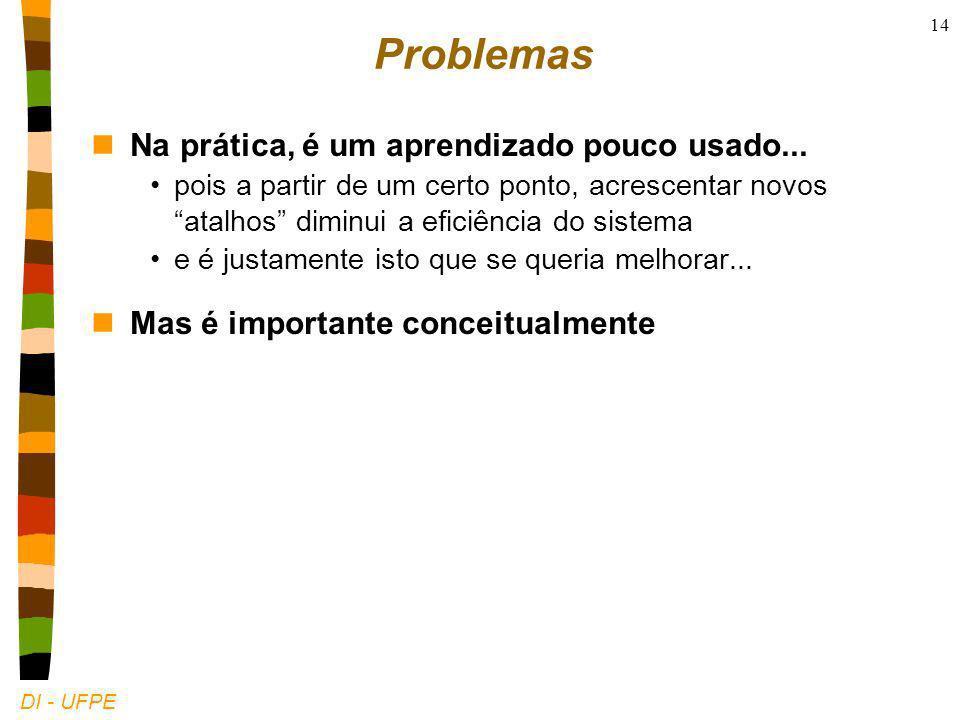 DI - UFPE 14 Problemas nNa prática, é um aprendizado pouco usado...