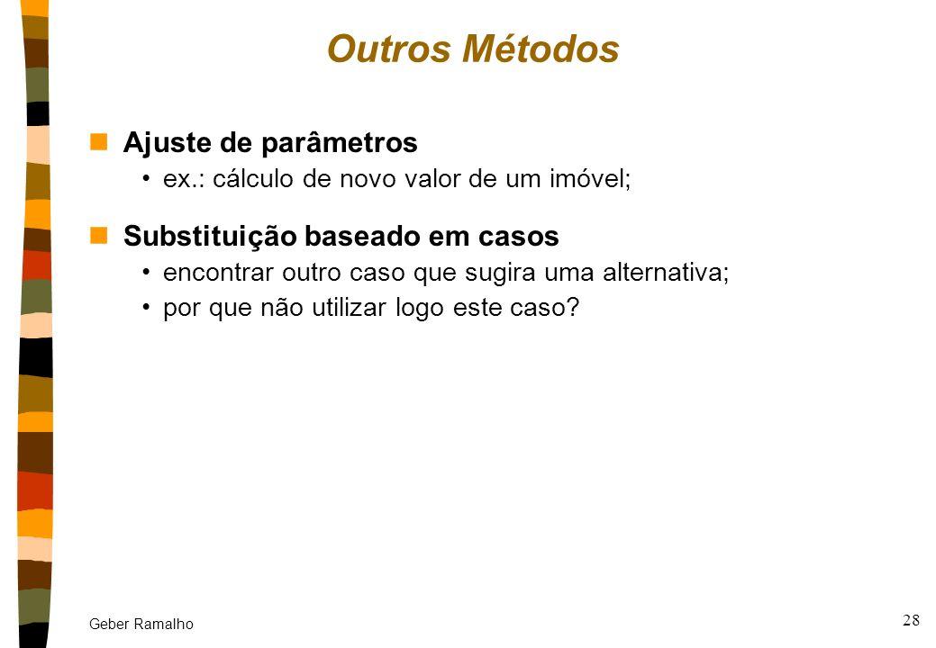 Geber Ramalho 27 Exemplo de reutilização: reinstanciação nDetermine os papéis dos envolvidos no caso retido; nFaça a correspondência dos papéis no pro