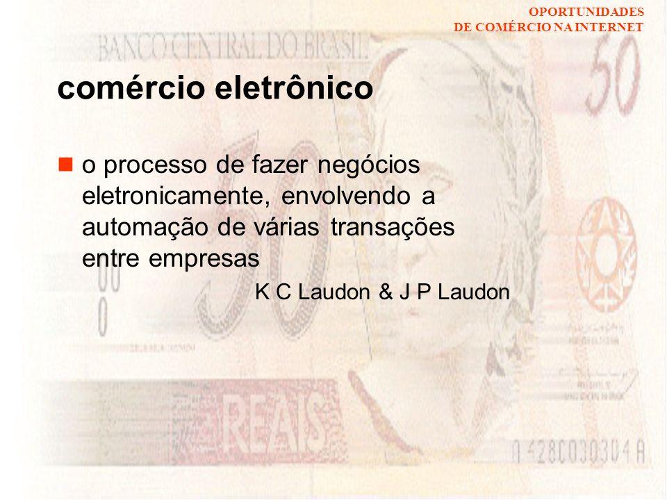 OPORTUNIDADES DE COMÉRCIO NA INTERNET o ponto de venda fixo loja, agência bancária, hospital móvel mascate, home banking, UTI móvel