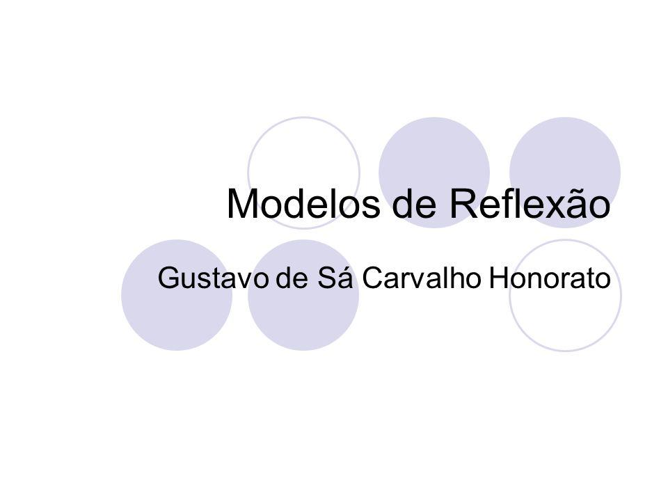 Modelos de Reflexão Gustavo de Sá Carvalho Honorato