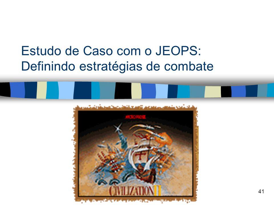 41 Estudo de Caso com o JEOPS: Definindo estratégias de combate