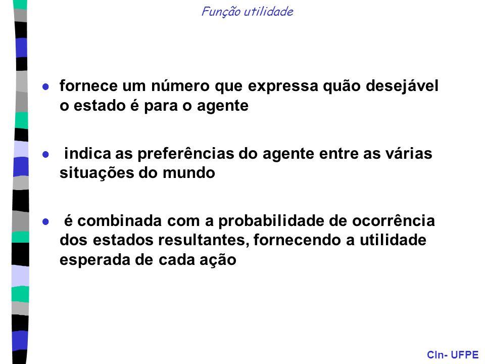 CIn- UFPE Valor da Informação Perfeita (VIP) O conhecimento atual do agente é E.