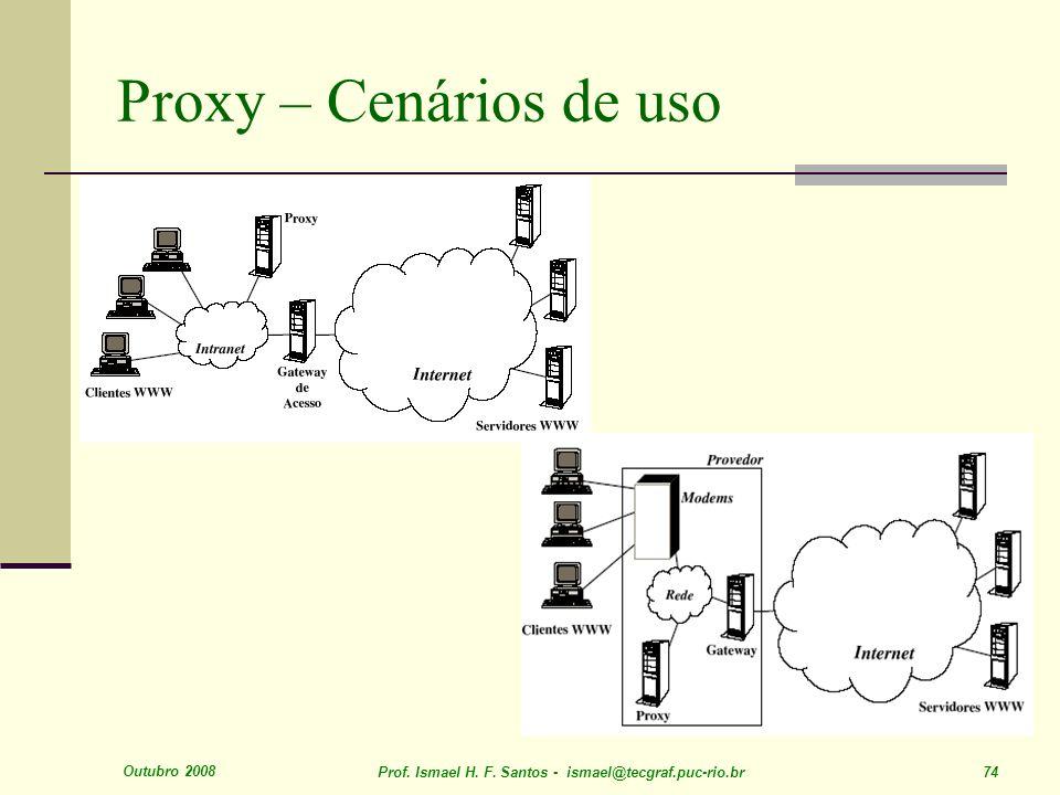 Outubro 2008 Prof. Ismael H. F. Santos - ismael@tecgraf.puc-rio.br 74 Proxy – Cenários de uso