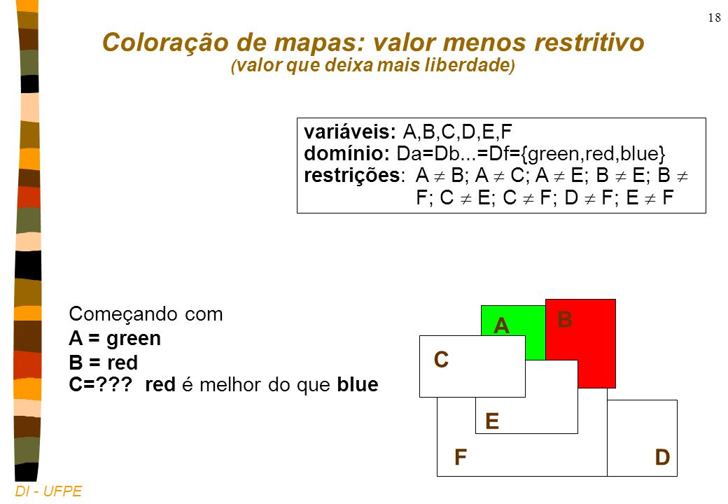 DI - UFPE 18 Começando com A = green B = red C=??.