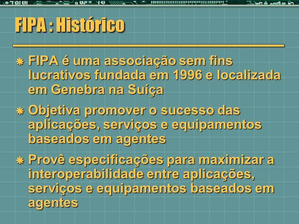 FIPA : Histórico FIPA é uma associação sem fins lucrativos fundada em 1996 e localizada em Genebra na Suíça FIPA é uma associação sem fins lucrativos