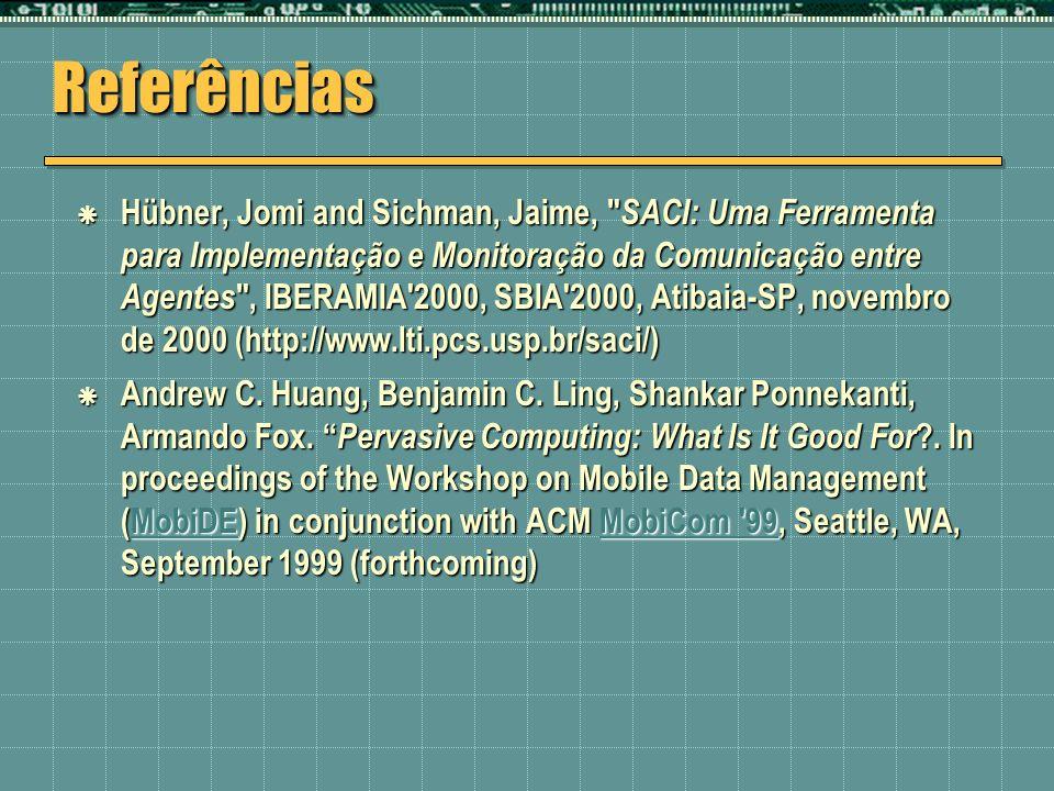 ReferênciasReferências Hübner, Jomi and Sichman, Jaime,