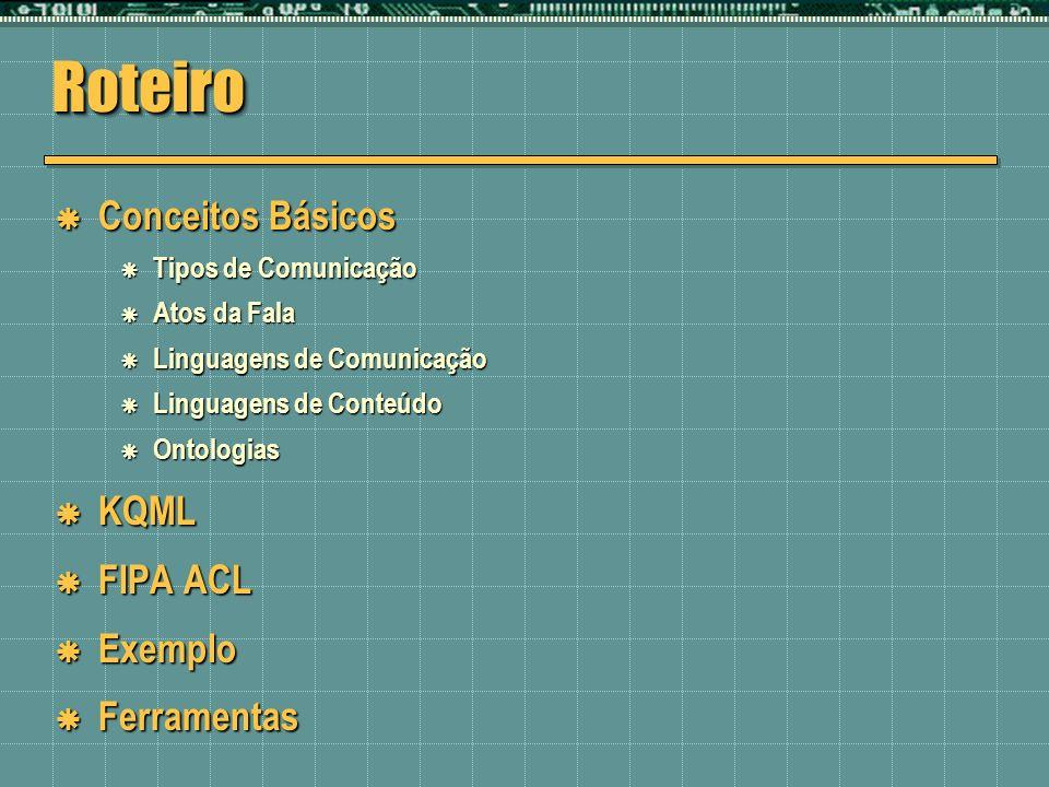 RoteiroRoteiro Conceitos Básicos Conceitos Básicos Tipos de Comunicação Tipos de Comunicação Atos da Fala Atos da Fala Linguagens de Comunicação Lingu