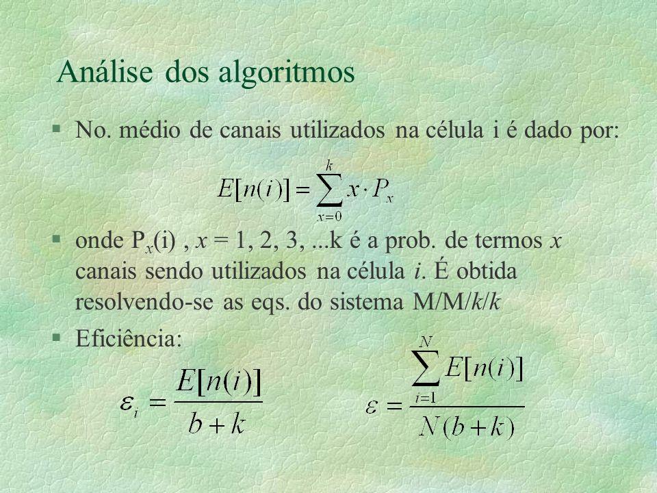 Análise dos algoritmos §No.