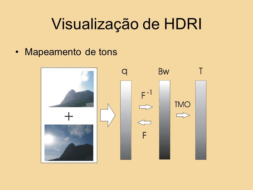 Visualização de HDRI Mapeamento de tons