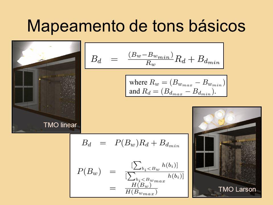 TMO linear TMO Larson Mapeamento de tons básicos
