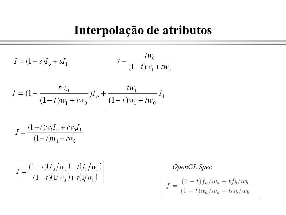 Interpolação de atributos OpenGL Spec