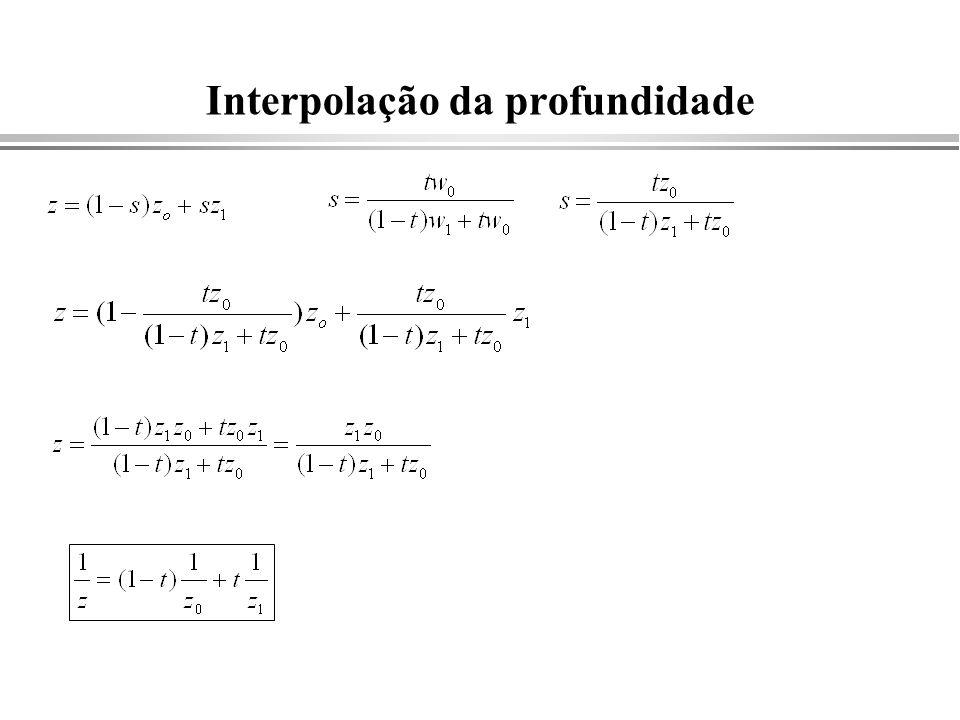 Interpolação da profundidade