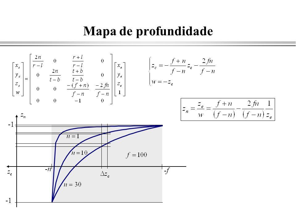 Mapa de profundidade -n -f
