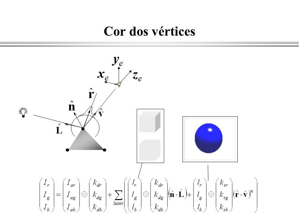Cor dos vértices xexe yeye zeze