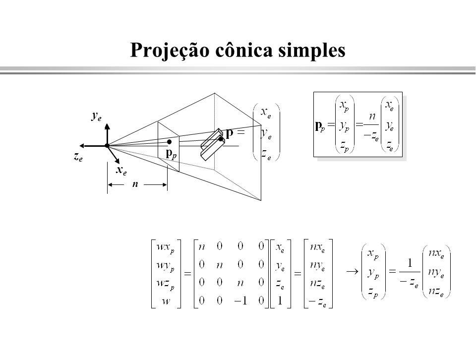Projeção cônica simples yeye zeze p n xexe