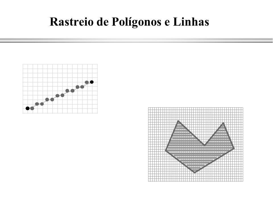 Rastreio de Polígonos e Linhas