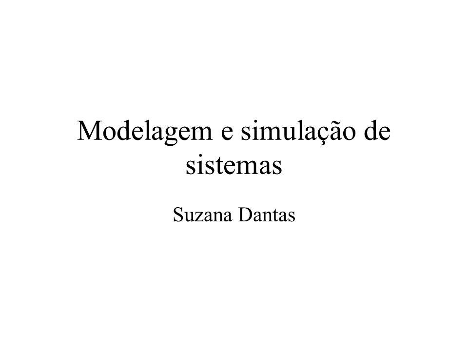 Modelagem e simulação de sistemas Suzana Dantas