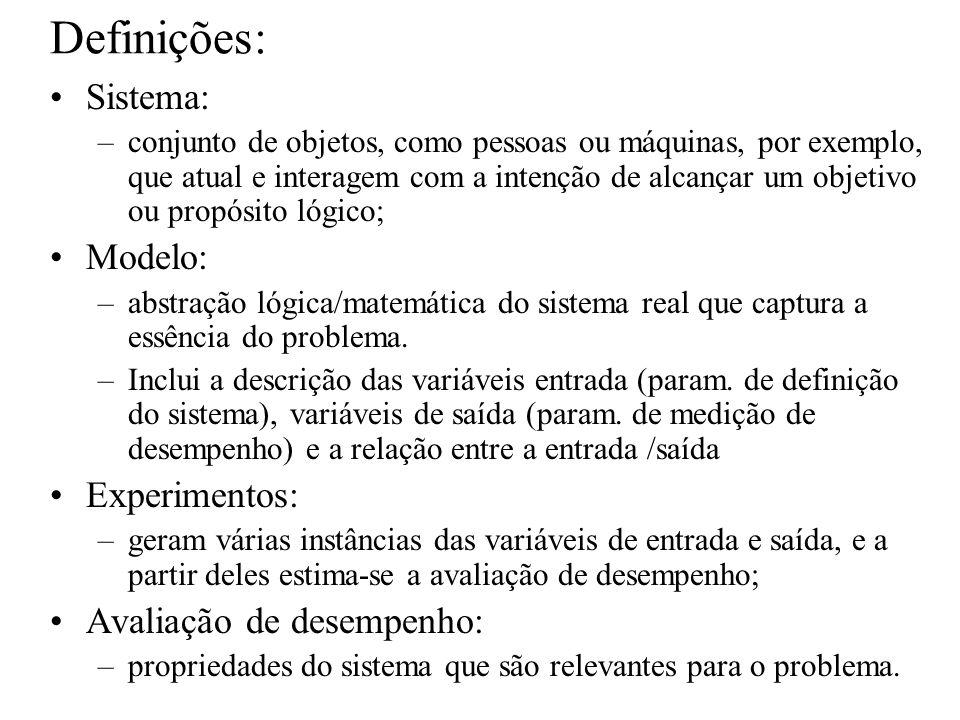 Definições: Sistema: –conjunto de objetos, como pessoas ou máquinas, por exemplo, que atual e interagem com a intenção de alcançar um objetivo ou prop