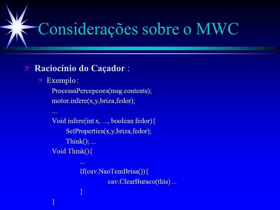 Considerações sobre MWC ä Ex2.