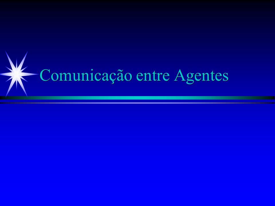 Exemplo: Agentk ä Tipos de Expressões: xtxtxtxt B a (x) t OBL a,b (x) t CAN a (x) t ä Comunicações: Expressões KQML