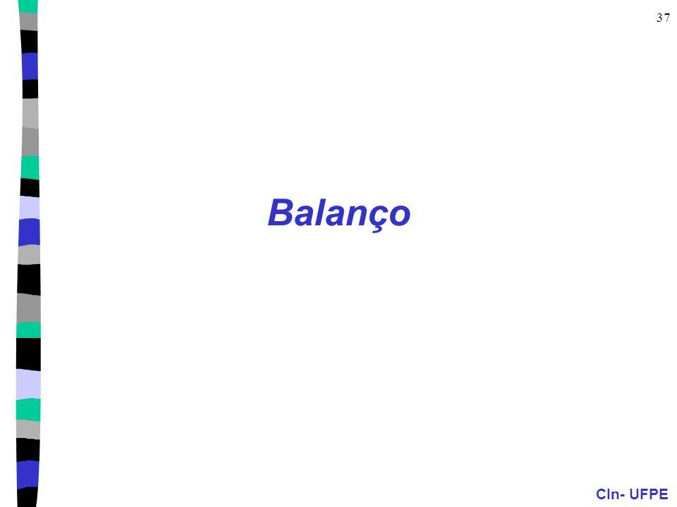 CIn- UFPE 37 Balanço