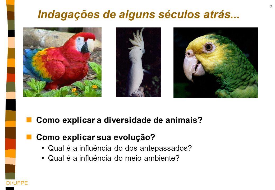 DI/UFPE 2 Indagações de alguns séculos atrás...nComo explicar a diversidade de animais.