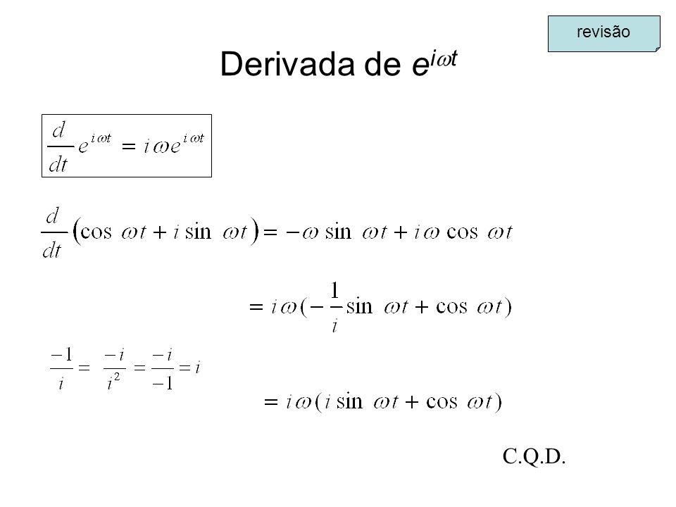 Derivada de e i t C.Q.D. revisão