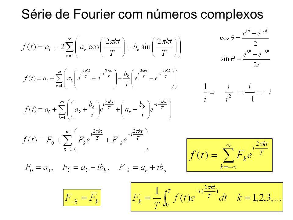 Série de Fourier com números complexos