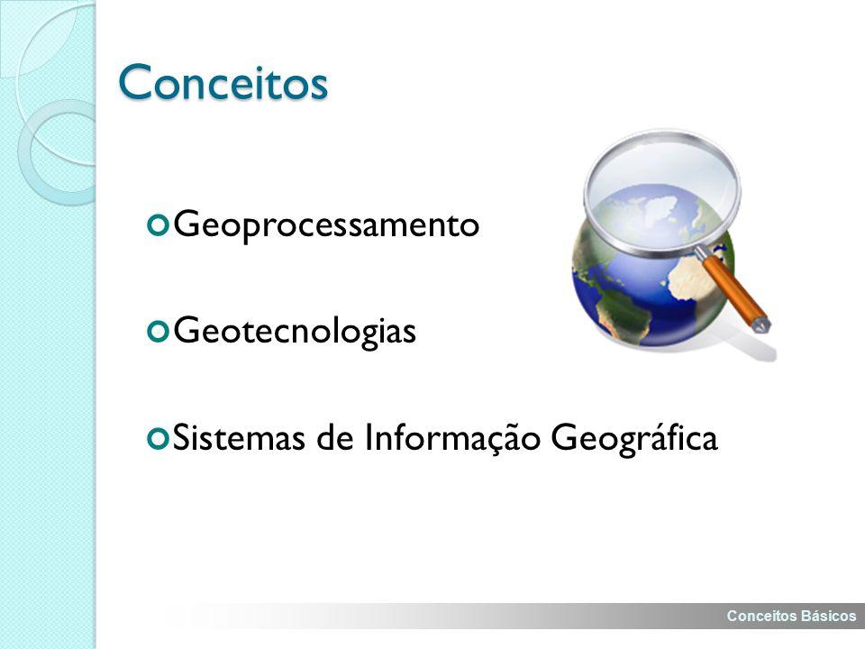 Conceitos Geoprocessamento Geotecnologias Sistemas de Informação Geográfica Conceitos Básicos