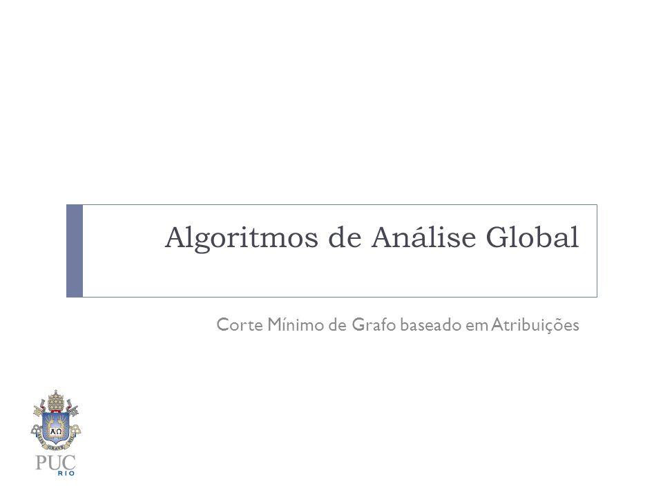 Algoritmos de Análise Global Corte Mínimo de Grafo baseado em Atribuições