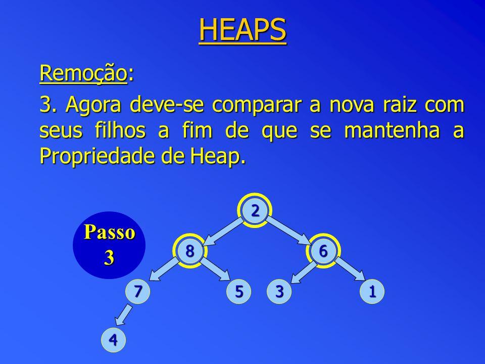 HEAPS Remoção: 3.