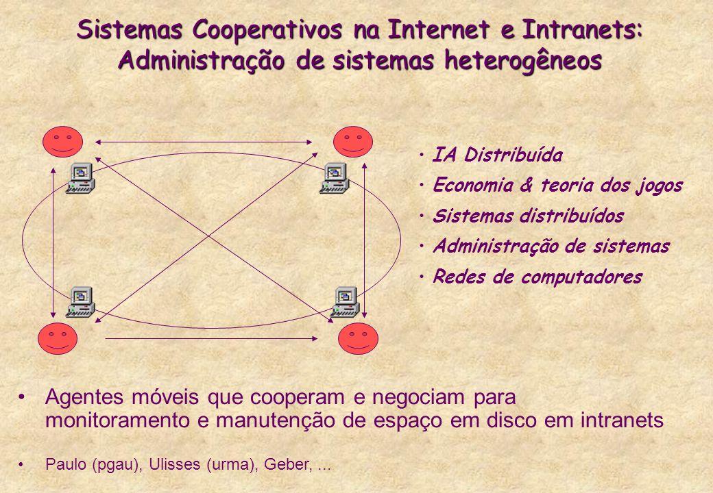 Sistemas Cooperativos na Internet e Intranets: Administração de sistemas heterogêneos Agentes móveis que cooperam e negociam para monitoramento e manu
