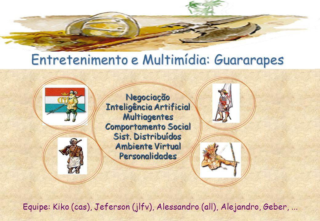 Negociação Inteligência Artificial Multiagentes Comportamento Social Sist. Distribuídos Ambiente Virtual Personalidades Entretenimento e Multimídia: G
