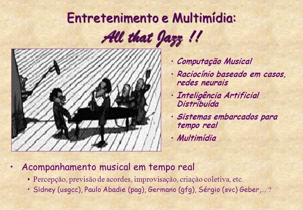 Entretenimento e Multimídia: All that Jazz !! Computação Musical Raciocínio baseado em casos, redes neurais Inteligência Artificial Distribuída Sistem