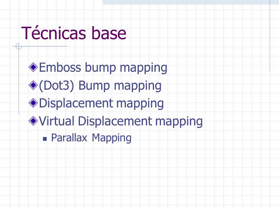 Bump Mapping Superfície lisa Superfície Irregular Superfície lisa renderizada com normais perturbadas