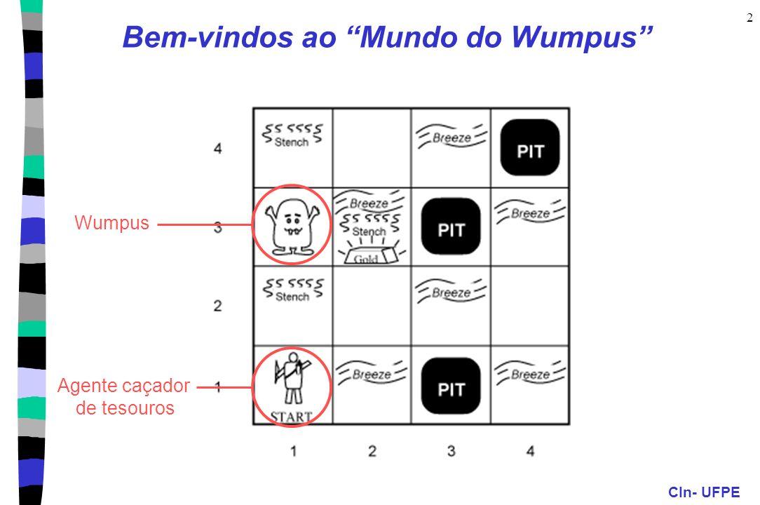 CIn- UFPE 2 Bem-vindos ao Mundo do Wumpus WumpusAgente caçador de tesouros