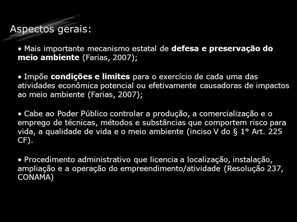 O processo de licenciamento ambiental Formalização / Abertura do Processo Análise de Documentos Vistoria técnica Atendimento de exigências (se houver) Parecer Técnico Emissão da Licença A empresa recebe a Licença solicitada e publica o recebimento.