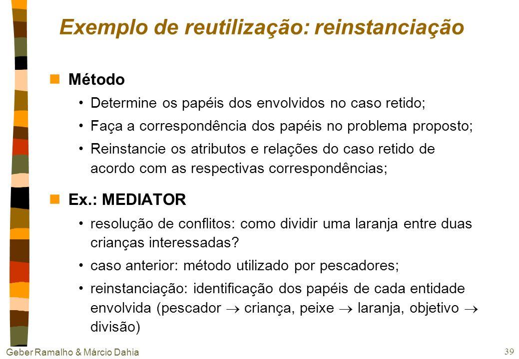 Geber Ramalho & Márcio Dahia 38 Reutilização nExemplo JULIA precisa criar uma refeição italiana (e que não contenha carne) composta de entrada, massas