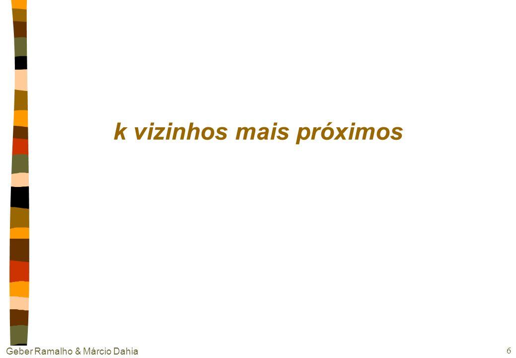 Geber Ramalho & Márcio Dahia 5 Aprendizagem Baseada em Instância nComo? Armazena as instâncias de treinamento Calcula a distância entre as instâncias