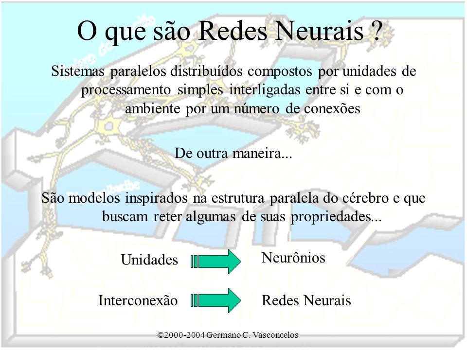©2000-2004 Germano C.Vasconcelos O que são Redes Neurais .