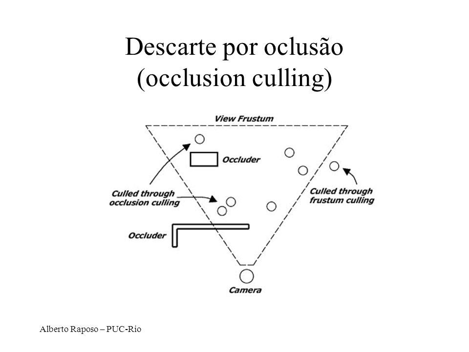 Alberto Raposo – PUC-Rio Descarte por oclusão (occlusion culling)