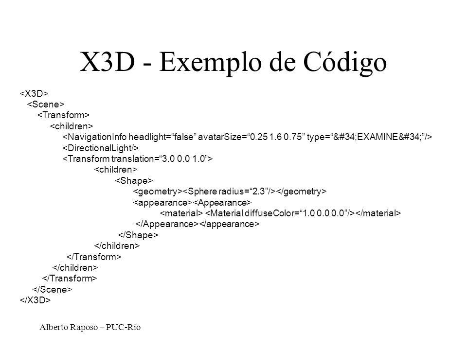 Alberto Raposo – PUC-Rio X3D - Exemplo de Código