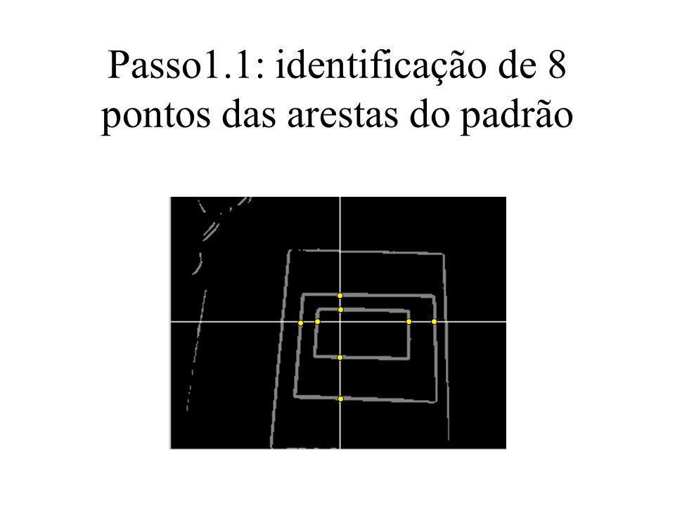 Passo1.1: identificação de 8 pontos das arestas do padrão