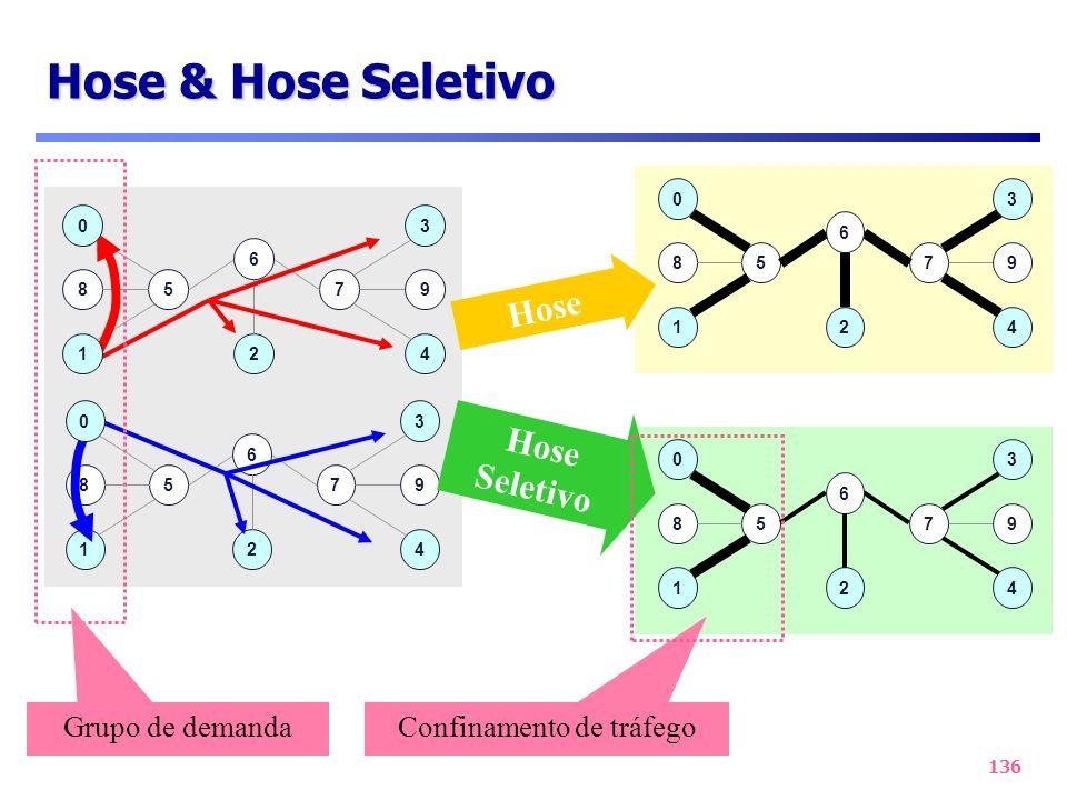 136 578 3 9 4 6 21 57 1 89 4 6 2 30 0 57 1 89 4 6 2 30 Hose 57 1 89 4 6 2 30 Hose Seletivo Grupo de demanda Confinamento de tráfego Hose & Hose Seleti