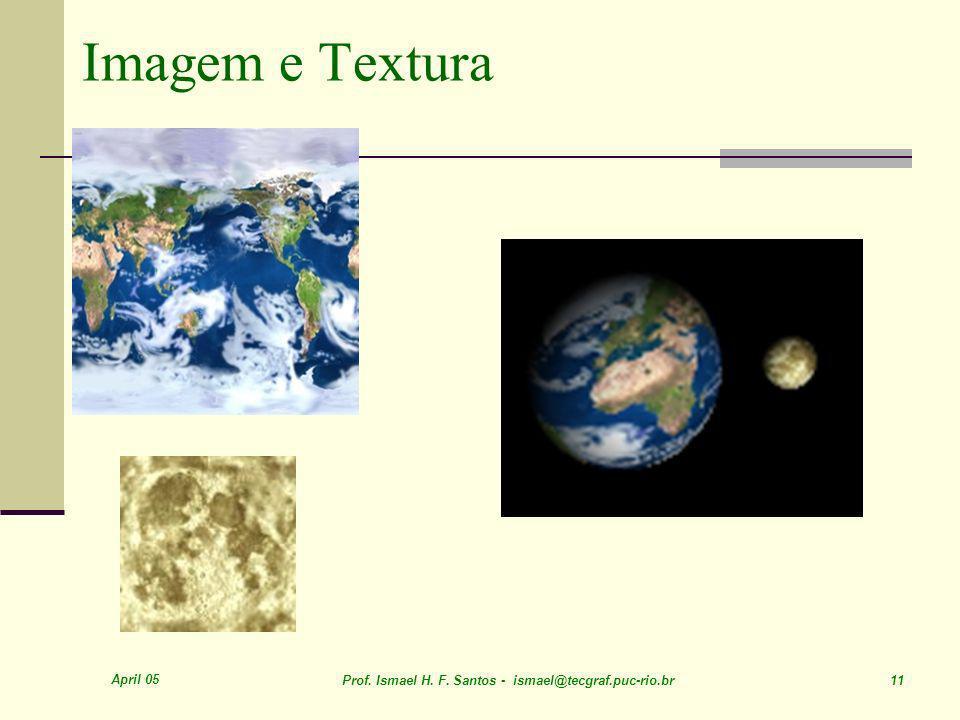 April 05 Prof. Ismael H. F. Santos - ismael@tecgraf.puc-rio.br 11 Imagem e Textura