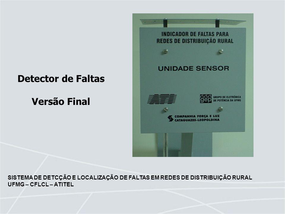 SISTEMA DE DETCÇÃO E LOCALIZAÇÃO DE FALTAS EM REDES DE DISTRIBUIÇÃO RURAL UFMG – CFLCL – ATITEL Detector de Faltas Versão Final