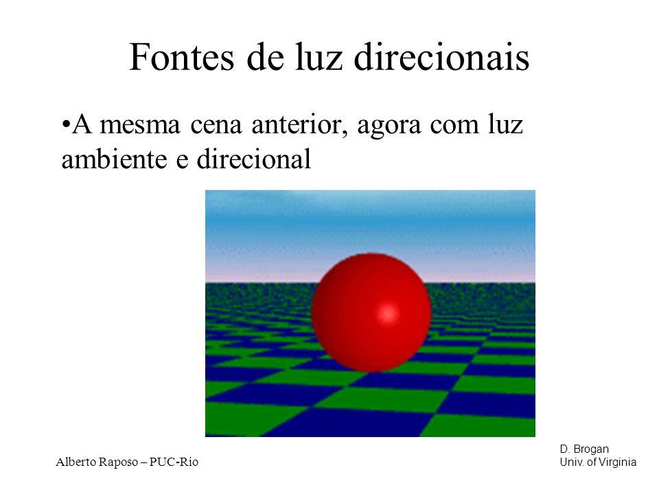 Alberto Raposo – PUC-Rio Fontes de luz direcionais A mesma cena anterior, agora com luz ambiente e direcional D.
