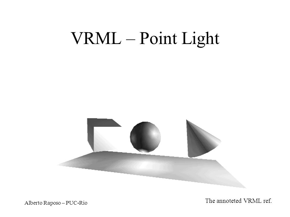 Alberto Raposo – PUC-Rio VRML – Point Light The annoteted VRML ref.