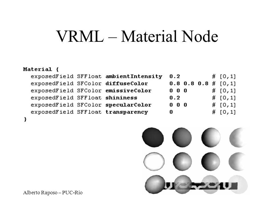 Alberto Raposo – PUC-Rio VRML – Material Node